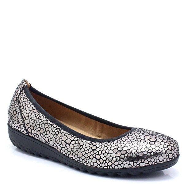 lebendig und großartig im Stil Verkauf Einzelhändler High Fashion CAPRICE 9-22151-21 SREBRNE - Wygodne balerinki