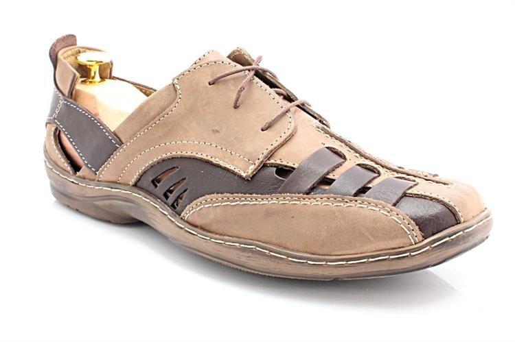 3032034d42efe1 KENT 086 BRĄZ NUBUK - Bardzo wygodne letnie buty ze skóry naturalnej ...