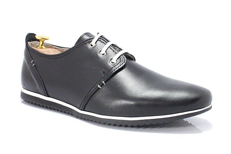 275adf28 KENT 209 CZARNE - Męskie wygodne buty ze skóry Kliknij, aby powiększyć ...