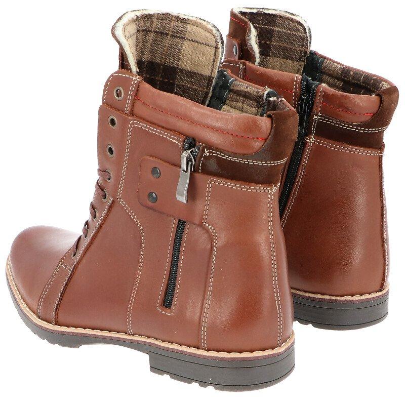 7effc64a ... KENT 237 BRĄZ - Męskie buty zimowe skóra Kliknij, aby powiększyć ...