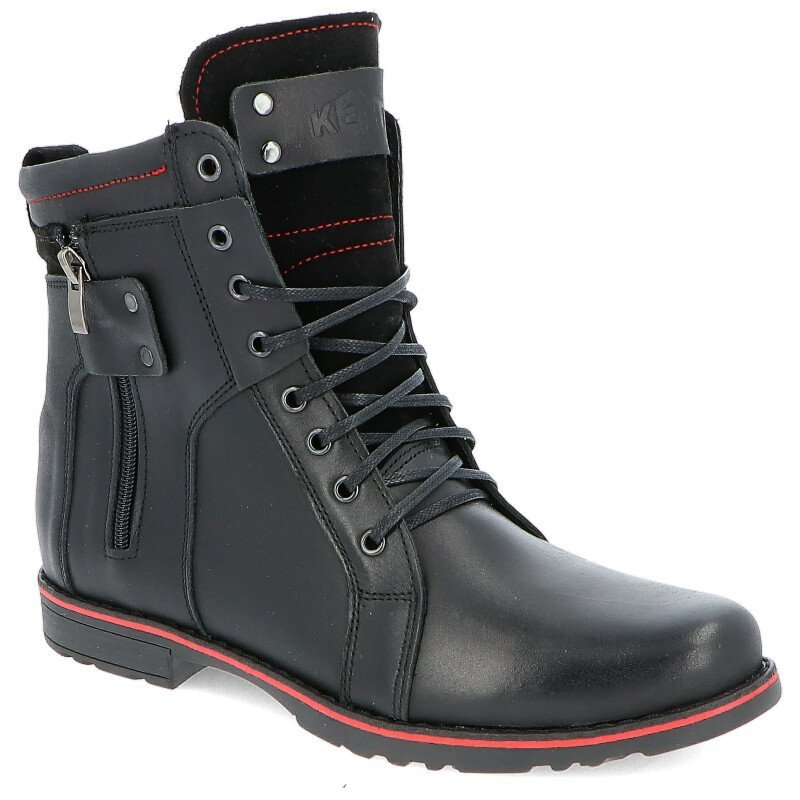 c4537436 KENT 237 CZARNY - Męskie buty zimowe skóra BUTY MĘSKIE ZIMOWE | PORA ...