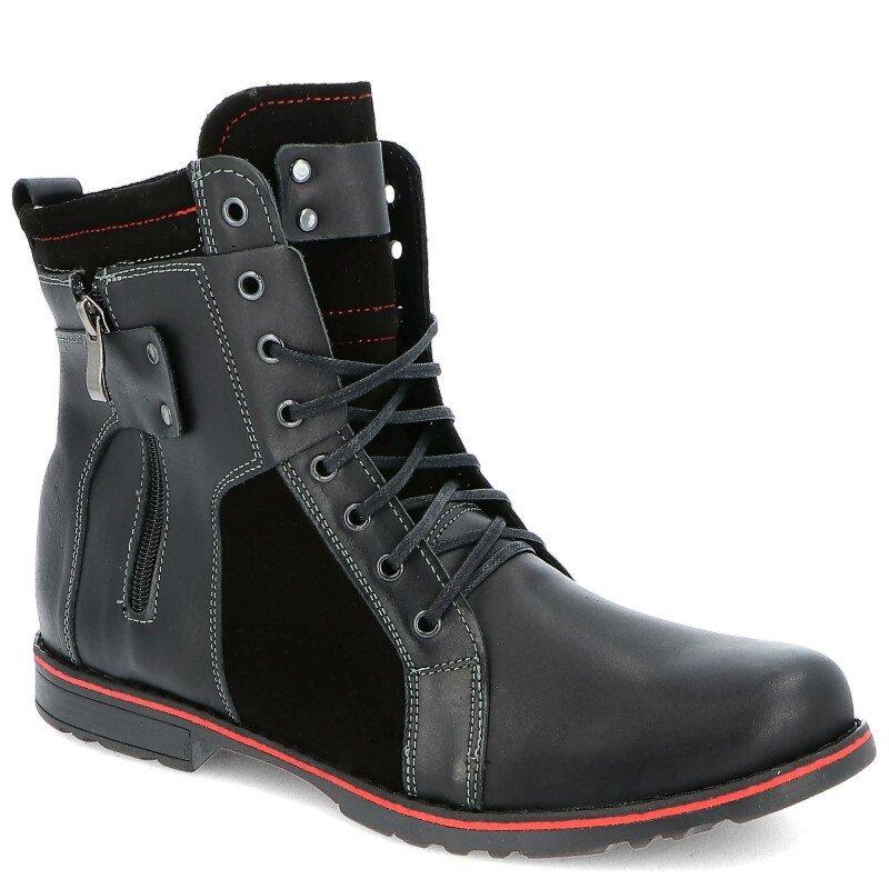 9be21993 KENT 237 CZARNY+WELUR - Męskie buty zimowe BUTY MĘSKIE ZIMOWE | PORA ...