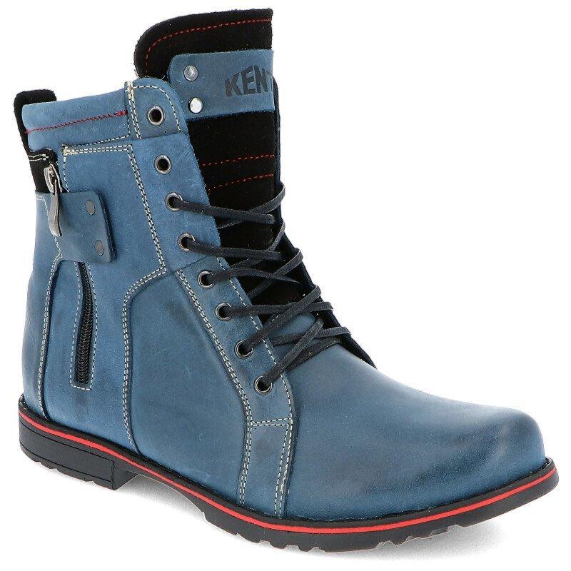 53ba12bab87144 KENT 237 GRANATOWE - Męskie buty zimowe skóra Kliknij, aby powiększyć ...