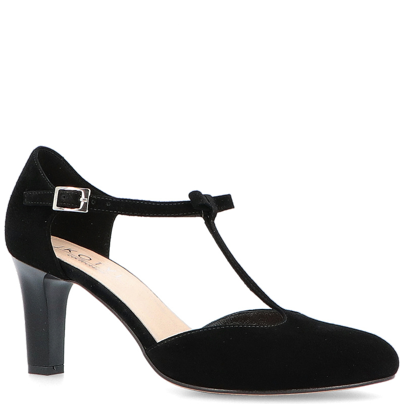 662d6dfb3fe33 KOTYL 889 CZARNY ZAMSZ - Piękne buty taneczne ze skóry BUTY DAMSKIE ...