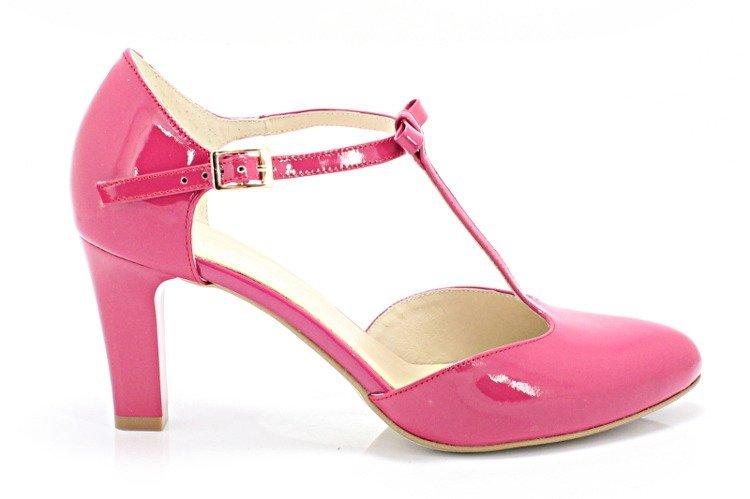 KOTYL 889 FUKSJA Piękne buty taneczne ze skóry