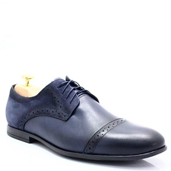 657f3fc3 LAVAGGIO 330 GRANATOWE - Polskie wizytowe buty, skóra Kliknij, aby  powiększyć ...