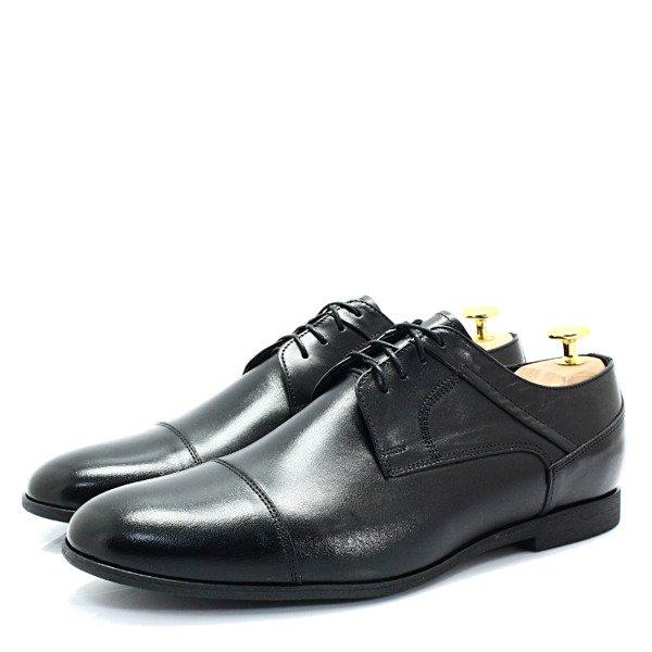 LAVAGGIO 432 CZARNE Wiztowe buty ze skóry naturalnej