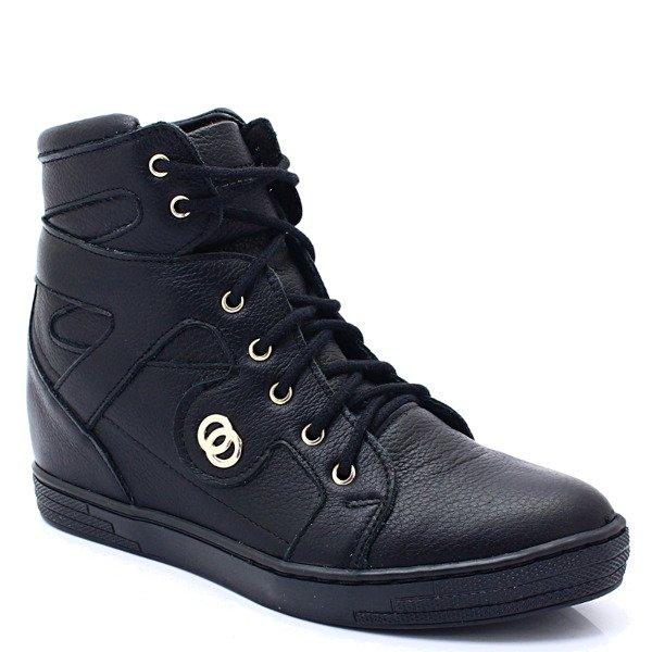 d6fe4d9ae7912 TYMOTEO 2627 CZARNE - Sneakersy na koturnie Kliknij, aby powiększyć ...