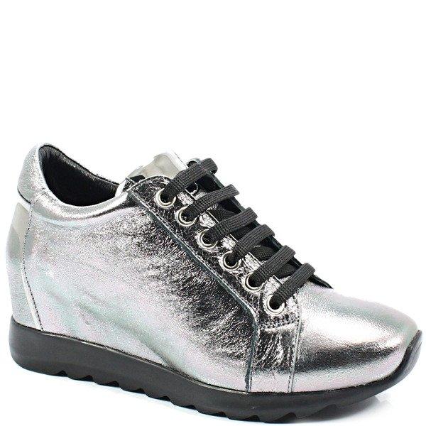 VENEZIA 058477219K SREBRO Sneakersy z koturną